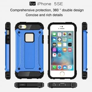 Tough Armor TPU + PC Combination Case for iPhone SE & 5 & 5s(Blue)
