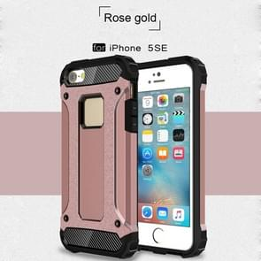 Harde Armor TPU + PC combinatie Case voor iPhone SE & 5 & 5s (Rose Gold)