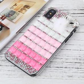 For   iPhone X / XS   Fox Head Pattern Diamond Protective Hard Back Cover Case
