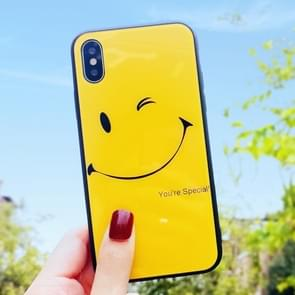 Yellow Smile Pattern Case for   iPhone X / XS