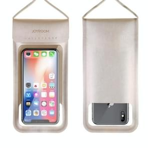 JOYROOM JR-CY701 IPX8 Waterproof Touch Screen Transparent Sealed Mobile Phone Waterproof Bag with Lanyard(Gold)