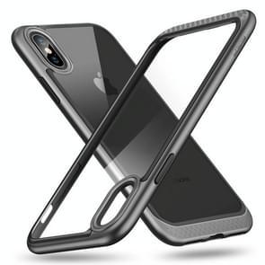 ESR Bumper Hoop Lite Series PC + TPU Solid Frame Transparent Case for   iPhone X(Black)
