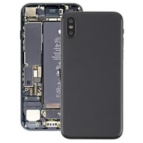 Battery Back Cover Assembly with Side Keys & Vibrator & Loud Speaker & Power Button + Volume Button Flex Cable & Card Tray & Battery Adhesive for iPhone X(Black)