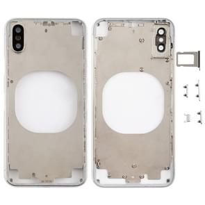 Transparent Back Cover with Camera Lens & SIM Card Tray & Side Keys for iPhone X (White)