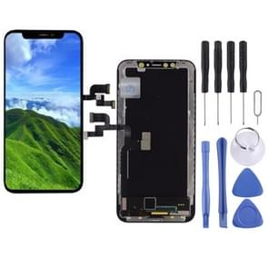 LCD Screen and Digitizer Full Assembly (OLED Material) for iPhone X (Black)