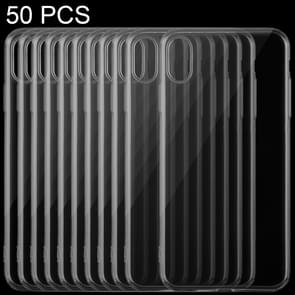 50 PCS 0.75mm TPU Ultra-thin Transparent Case for iPhone XS
