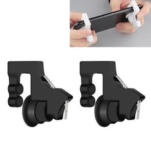 G2 Double Mechanical Switch Eat Chicken Mobile Phone Trigger Shooting Controller Button Handle (Black)
