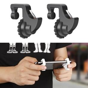 Eat Chicken Mobile Phone Trigger Shooting Controller Button Handle with Phone Holder (Black)
