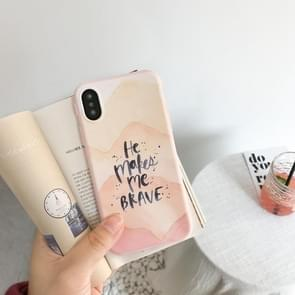 For iPhone X IMD HE MAKES ME BRAVE Letters Pattern Soft Protective Back Case