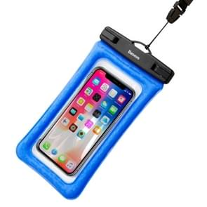 Baseus Transparent Universal Air Cushion Waterproof Bag with Lanyard, For iPhone, Samsung, Sony, Huawei, Meizu, Lenovo, ASUS, Oneplus, Xiaomi, Cubot, Ulefone, Letv, DOOGEE, Vkworld, and other (Blue)