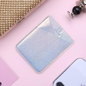 Adhesive Stick-on Telefoonhouder ID Creditcardhoes Laser Color Print Lederen Tasje voor 4 7-5 8 inch Android & iPhone Smartphones