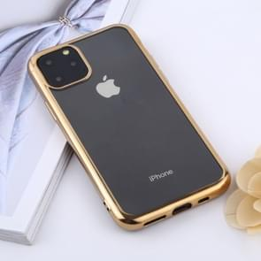 Transparent TPU Anti-Drop And Waterproof Mobile Phone Protective Case for iPhone 11 Pro (2019)(Gold)