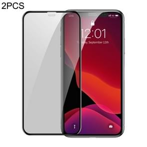 2 PCS Baseus 0.3mm Full Screen Curved Edge Cellular Dust Anti-glare Tempered Glass Film for iPhone 11 Pro / XS / X