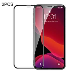2 PCS Baseus 0.23mm Crack-resistant Edges Curved Full Screen Tempered Glass Film for iPhone 11 Pro / XS / X