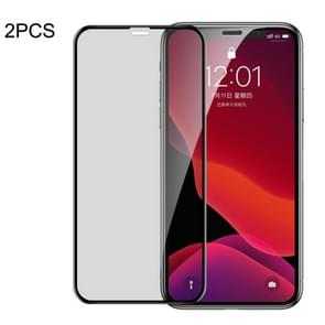 2 PCS Baseus 0.23mm Privacy Anti-glare Crack-resistant Edges Curved Full Screen Tempered Glass Film for iPhone 11 Pro / XS / X