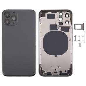 Back Housing Cover met SIM Card Tray & Side keys & Camera Lens voor iPhone 11 Pro(Grijs)