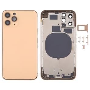 Achterkant Behuizing Cover met SIM Card Tray & Side keys & Camera Lens voor iPhone 11 Pro(Goud)
