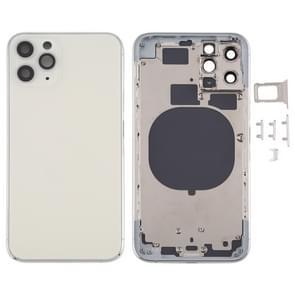 Achterkant Behuizing Cover met SIM Card Tray & Side keys & Camera Lens voor iPhone 11 Pro(Zilver)