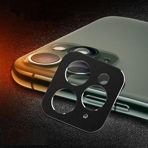 Achterzijde camera lens bescherming ring cover voor iPhone 11 Pro/11 Pro Max (zwart)