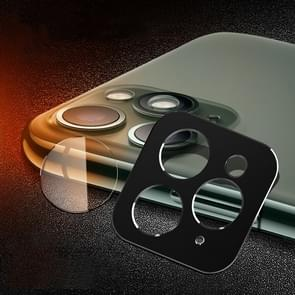 Achterzijde camera lens bescherming ring cover + achteruitrijcamera lens beschermende filmset voor iPhone 11 Pro/11 Pro Max (zwart)
