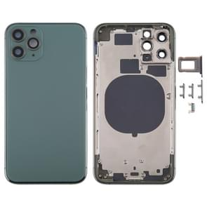 Back Housing Cover met SIM Card Tray & Side keys & Camera Lens voor iPhone 11 Pro Max(Groen)