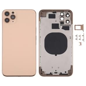 Achterkant Behuizing Cover met SIM Card Tray & Side keys & Camera Lens voor iPhone 11 Pro Max(Goud)