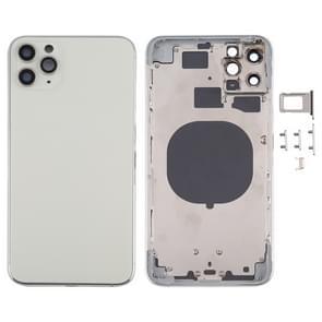Achterkant Behuizing Cover met SIM Card Tray & Side keys & Camera Lens voor iPhone 11 Pro Max(Zilver)