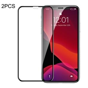 2 PCS Baseus 0.23mm Crack-resistant Edges Curved Full Screen Tempered Glass Film for iPhone 11 / XR