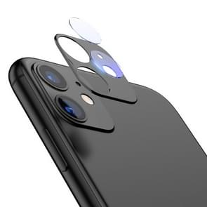 For iPhone 11 TOTUDESIGN Crystal Color Rear Camera Lens Protective Film (Black)