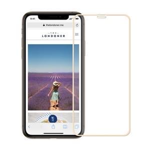 MOFI 9H oppervlaktehardheid 2.5 D Arc Edge explosieveilige Full Screen gehard glas film voor iPhone 11 Pro Max/XS Max (goud)
