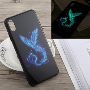 Luminous Pattern Glass Case for iPhone XS Max (Phoenix)