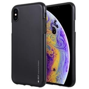 MERCURY GOOSPERY JELLY serie Shockproof zachte TPU Case voor iPhone XS Max(Black)