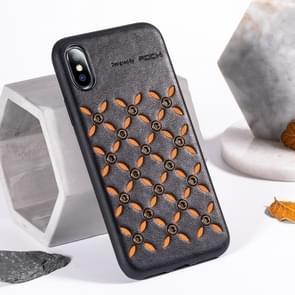 ROCK oorsprong serie Business TPU + PU beschermhoes voor iPhone XS Max