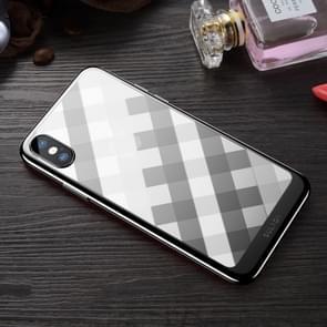 SULADA Plating + Radium Carving TPU softcase voor iPhone XS Max (zwart)