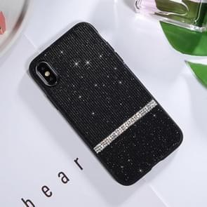 SULADA Glitter poeder Diamond TPU Case voor iPhone XS Max (zwart)