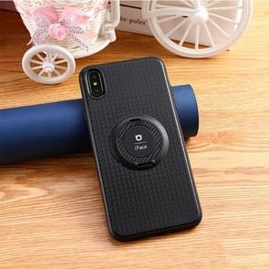 3 in 1 Magnetic Ring Case for iPhone XS Max with Holder(Black)