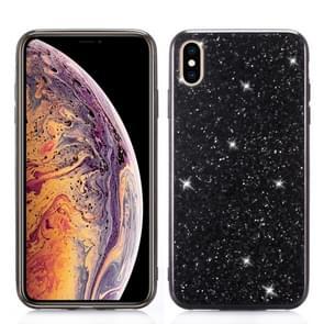 Glitter poeder TPU Case voor iPhone XS Max (zwart)