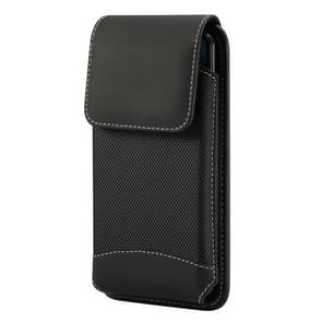 Universal Hanging Waist Oxford Cloth Case for iPhone XS Max / 8 Plus & 7 Plus / 6 Plus / Galaxy Note9 / Note8 / S8+ / S9+ and Other 5.7-6.3 inch Mobile Phones, with Carabiner (Black)