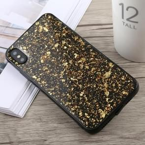 Glittery Powder Shockproof Soft TPU Case for iPhone XS Max(Gold)