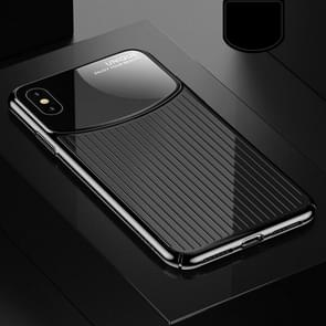 USAMS US-BH463 Electroplating PC Case for iPhone XS Max (Black)
