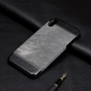 Denim Texture PC+PU Protective Case for  iPhone XS Max(Grey)