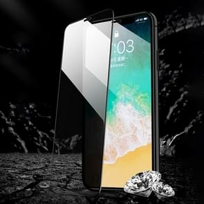 REMAX Voor iPhone XS Max Rock Series Anti-spion Tempered Glass Protective Film (Zwart)