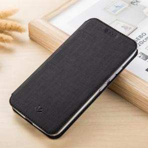 ViLi DMX multifunctionele horizontale Flip Leather Case for iPhone XS Max, met sleuf & kaarthouder (zwart)