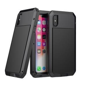 Metalen Shockproof waterdichte beschermhoes voor iPhone XS Max (zwart)
