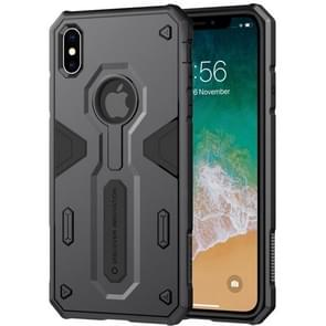 NILLKIN Tough Defener II Case Shockproof TPU + PC Case for iPhone XS Max (Black)