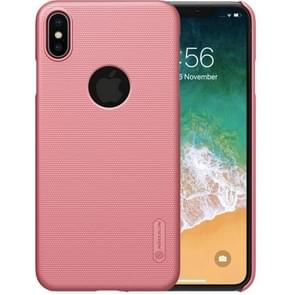 NILLKIN Frosted concaaf-convexe textuur PC Case voor iPhone XS Max (Rose Gold)