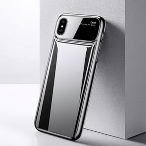 TOTUDESIGN Magic Mirror Series Shockproof PC + Glass Protective Case for iPhone XS Max (Grey)