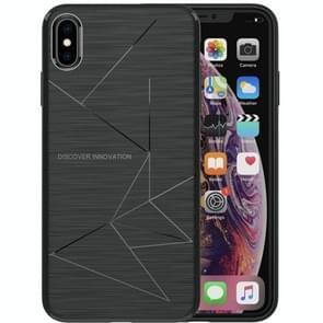 NILLKIN Rhombus textuur TPU back cover beschermhoes voor iPhone XS Max(Black)