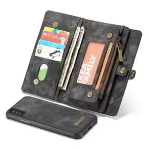 CaseMe Detachable Multifunctional Horizontal Flip Leather Case for iPhone XS Max, with Card Slot & Holder & Zipper Wallet & Photo Frame (Black)