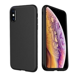 lenuo Leshen Series Stripe Texture TPU Case for iPhone XS Max (Black)